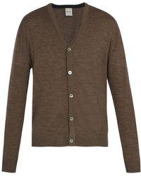 Paul Smith - Long Sleeved Merino Wool Cardigan - Lyst