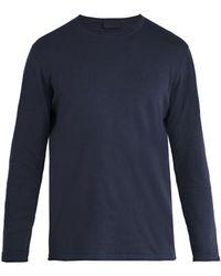Altea   Linen-blend Long-sleeved T-shirt   Lyst