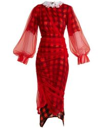 Preen By Thornton Bregazzi - Olivia Tulle-overlay Dress - Lyst