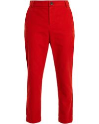 Vivienne Westwood Anglomania - Straight Leg Brushed Cotton Trousers - Lyst