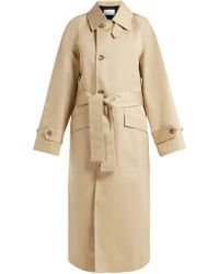 Raey - Split Back Cotton Trench Coat - Lyst