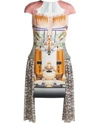 Mary Katrantzou - Pe11 Print Crepe And Chiffon Mini Dress - Lyst