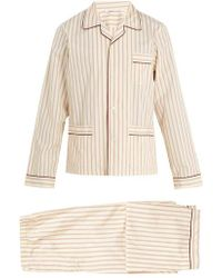 Prada - Striped Cotton Pyjama Set - Lyst