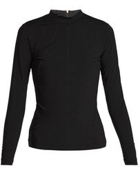 Charli Cohen - Cut Here Laser-cut Rash-guard Top - Lyst