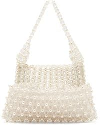 Shrimps - Quinn Faux Pearl Embellished Clutch - Lyst