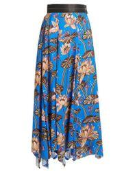 Loewe - X Paula's Ibiza Floral-print Asymmetric-hem Skirt - Lyst