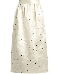Jupe by Jackie - Open P Gala Polka-dot Embroidered Satin Skirt - Lyst