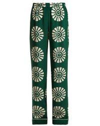 Valentino - Medallion-print Silk Pyjama Trousers - Lyst