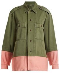 MYAR - - Hungarian Contrast Colour Military Jacket - Womens - Khaki Multi - Lyst