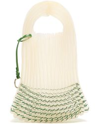Jil Sander - Bead Embellished Woven Tote - Lyst