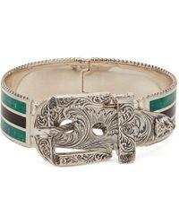 Gucci - Garden Enamel And Sterling Silver Bracelet - Lyst