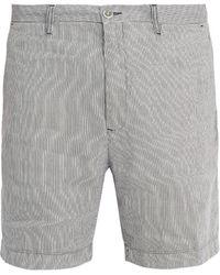 120% Lino - Straight-leg Striped Linen Shorts - Lyst