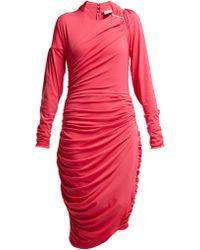 Preen By Thornton Bregazzi - Alexandra Crinkled Georgette Ruched Midi Dress - Lyst
