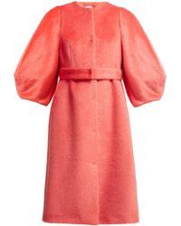 Delpozo - Single Breasted Wool Coat - Lyst