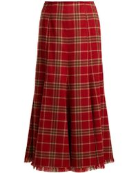 Gabriela Hearst - Amy Cashmere And Silk-blend Flannel Midi Skirt - Lyst