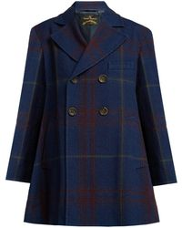 Vivienne Westwood Anglomania - Checked Cotton And Wool-blend Coat - Lyst