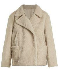 Yves Salomon - Double-breasted Shearling Coat - Lyst