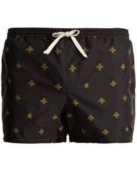 Gucci - Bee-jacquard Swim Shorts - Lyst