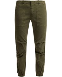Nili Lotan - Loden Stretch-cotton Military Trousers - Lyst