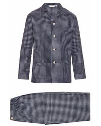 Derek Rose - Braemar Checked Brushed-cotton Pyjama Set - Lyst