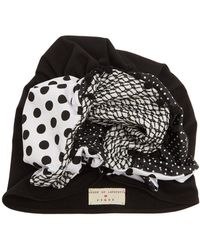 Figue - X House Of Lafayette Frida Panelled Turban Hat - Lyst