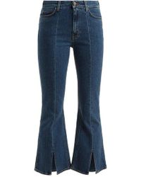 M.i.h Jeans - Marty High-rise Kick-flare Cropped Jeans - Lyst