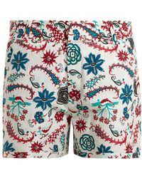 Le Sirenuse - Leopard Garden-print Cotton Shorts - Lyst