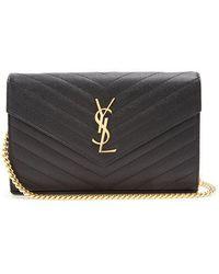 Saint Laurent - Monogram Quilted-leather Cross-body Bag - Lyst