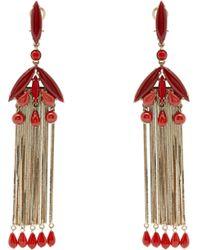 Etro - Bead-embellished Drop Earrings - Lyst