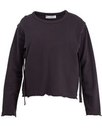 J.W. Anderson | Raw-edge Cut-out Cotton Sweater | Lyst