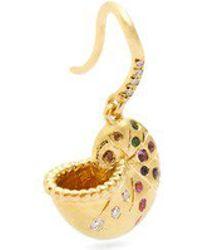 Aurelie Bidermann - Diamond, Multi-stone & Yellow-gold Earring - Lyst