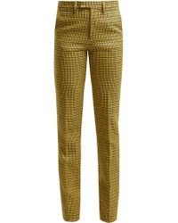 Raf Simons - Houndstooth Wool Trousers - Lyst