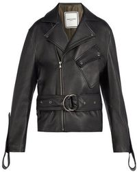 Wooyoungmi - Belted Leather Jacket - Lyst