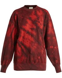 Aries - Tie Dyed Cotton Sweatshirt - Lyst