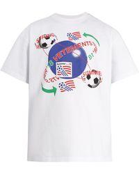Vetements - Football-print Cotton T-shirt - Lyst