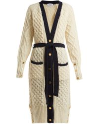 Thom Browne - Cable-knit Wool-blend Cardigan - Lyst