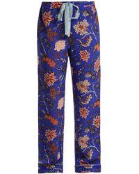 Diane von Furstenberg - Floral-print Silk Crepe De Chine Pyjama Trousers - Lyst