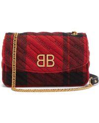 Balenciaga - Bb Round Plaid Bag - Lyst