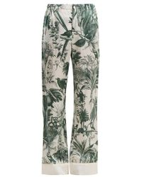 F.R.S For Restless Sleepers - Etere Floral-print Cotton-blend Trousers - Lyst