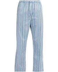Derek Rose - Wellington Striped Cotton Pyjama Trousers - Lyst