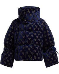 Fendi - Heart Down Filled Velvet Jacket - Lyst