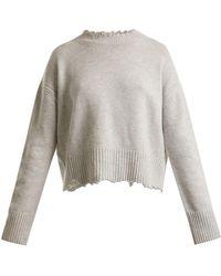 Helmut Lang - Oversized Distressed Wool-blend Jumper - Lyst