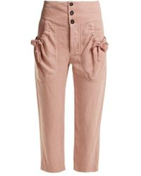Étoile Isabel Marant - Weaver High-rise Cropped Trousers - Lyst