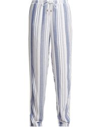 Melissa Odabash - Kelly Striped Wide Leg Trousers - Lyst