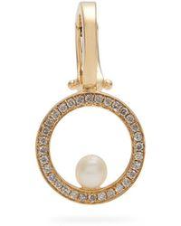 Anissa Kermiche | Diamond, Pearl & Yellow-gold Single Ear Cuff | Lyst