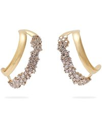 Ana Khouri - Simplicity 18kt Gold And Diamond Earrings - Lyst
