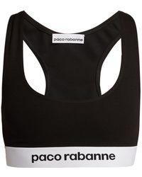 Paco Rabanne - Logo-jacquard Sports Bra - Lyst