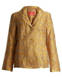F.R.S For Restless Sleepers - Arabesque Shawl-lapel Brocade Jacket - Lyst