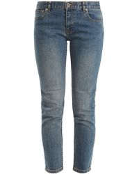 A.P.C. - Jean skinny taille basse Etroit Court - Lyst
