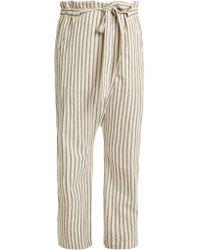 MASSCOB - Paper Bag Waist Striped Trousers - Lyst